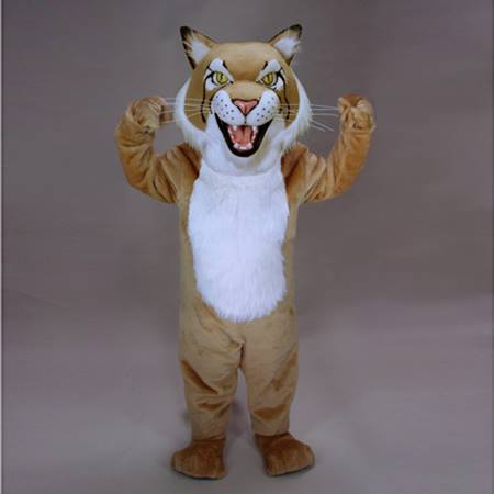 Tan Bobcat Mascot Costume
