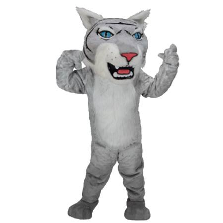 Gray Wildcat Mascot Costume