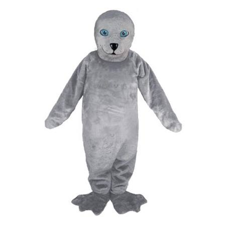 Gray Seal Mascot Costume