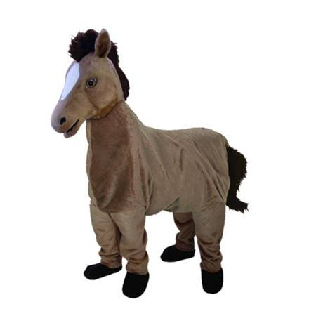 Two-person Brown Mustang Mascot Costume