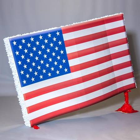 American Flag on Stand Parade Float Kit