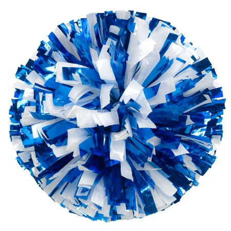 Two-color Mix Metallic Pom, 8 in.