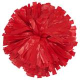 Plastic Cheerleader Pom-Poms - 4 in. Solid Color with Baton Handle