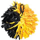 Plastic Half and Half Pom, 8 in.