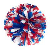 Wetlook Cheerleader Pom-Poms - 4 in. Three Color Mix with Baton Handle