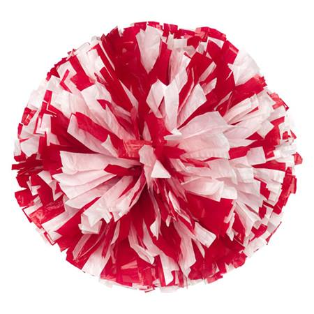 Wetlook Cheerleader Pom-Poms - 4 in. Two Color Mix with Baton Handle