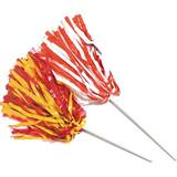 Wide Strand Pom-Poms with Stick Handle - Two Colors