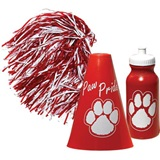 Red/White Megaphone Set