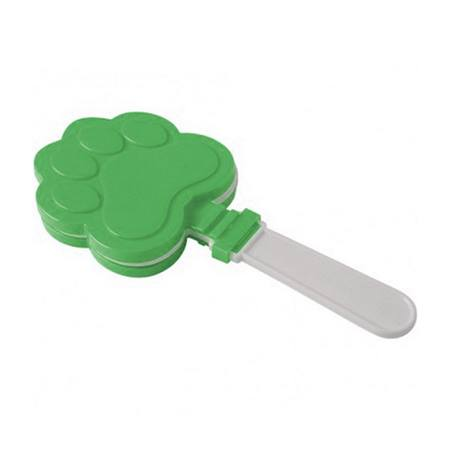 Green and White Paw Print Clappers - 12/pkg