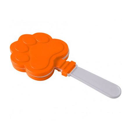 Orange and White Paw Print Clappers - 12/pkg