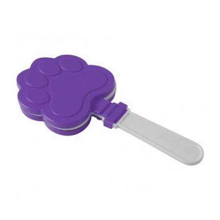 Purple and White Paw Print Clappers - 12/pkg
