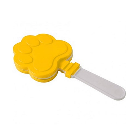Yellow and White Paw Print Clappers - 12/pkg
