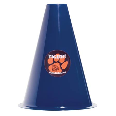 Navy Blue Megaphone with Sticker