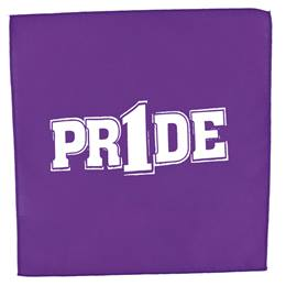 "Purple/White ""Pr1de"" Pep Rag"