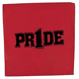 "Red/Black ""Pr1de"" Pep Rag"