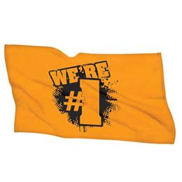 We're #1 Towel - Gold/Black