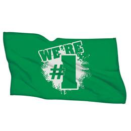 We're #1 Towel - Green/White