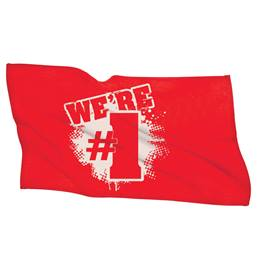 We're #1 Towel - Red/White