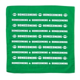 Homecoming Bandana - Green and White