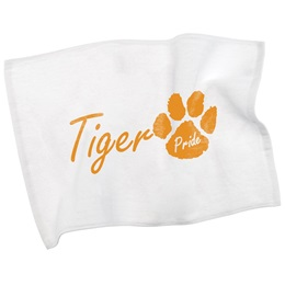 Custom White Team Spirit Towel - Hemmed Edges