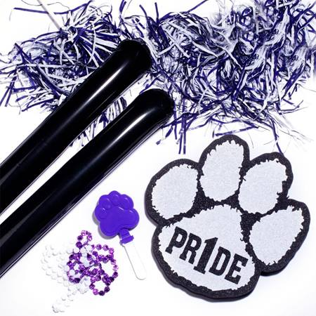 Purple/White/Black Deluxe Paw Pride Set