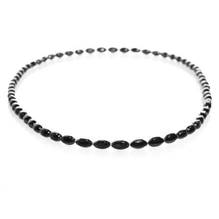 Mini Football Bead Necklaces - Black