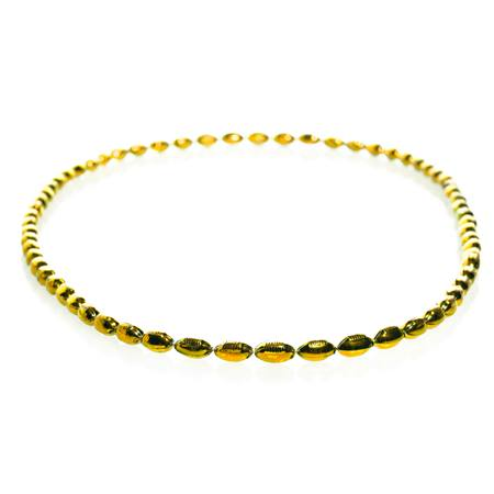 Mini Football Bead Necklaces - Gold