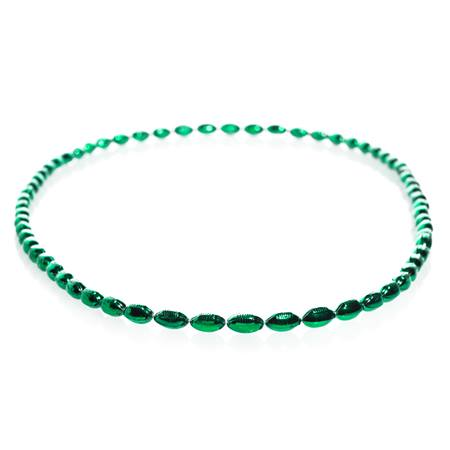 Mini Football Bead Necklaces - Green