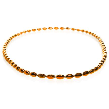Mini Football Bead Necklaces - Orange