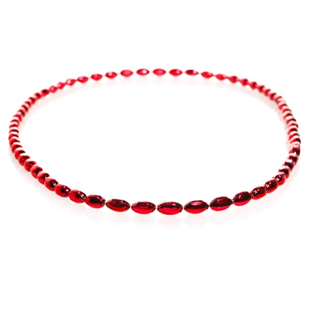 Mini Football Bead Necklaces - Red