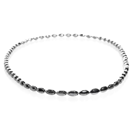Mini Football Bead Necklaces - Silver