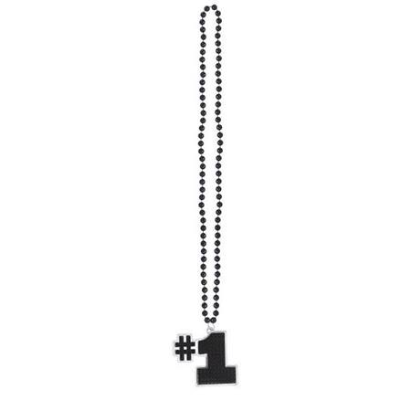 #1 Bling Bead Necklace - Black