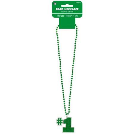#1 Bling Bead Necklace - Green