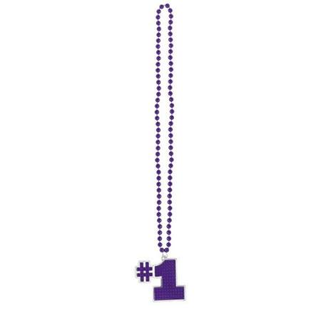 #1 Bling Bead Necklace - Purple