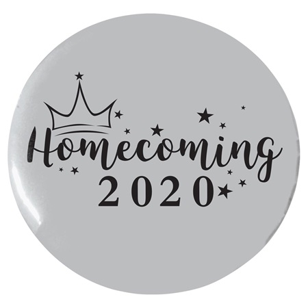 "2 1/4"" Custom Button - Stars and Crown Homecoming"