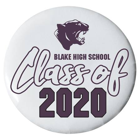 2.25 in. Custom Button - Panthers/Class of 2019