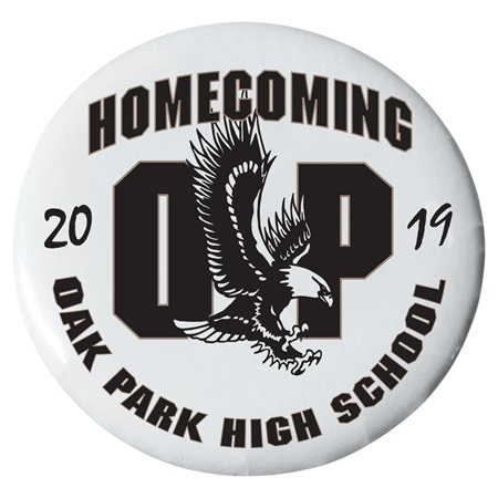 "2 1/4"" Custom Button - Homecoming Eagles"