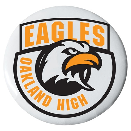 "2 1/4"" Custom Button - Eagles Banner"