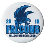 "2 1/4"" Custom Button - Falcons"