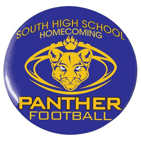 "2 1/4"" Custom Button - Panther Football"