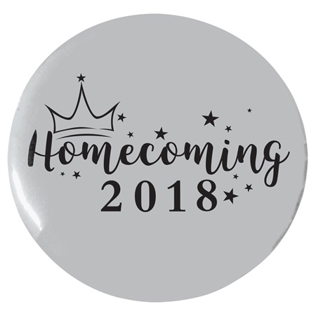 "3"" Custom Button - Stars and Crown Homecoming"