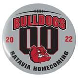 3 in. Custom Button - Bulldogs