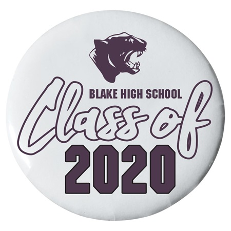 3 in. Custom Button - Panthers/Class of 2019