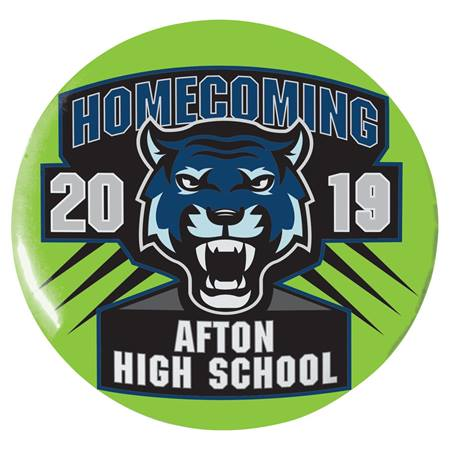 "3"" Custom Button - Tigers Homecoming"