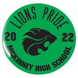 3 in. Custom Button - Lions Pride
