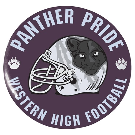 "3"" Custom Button - Panther Pride"