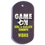 Game On Soccer Dog Tag