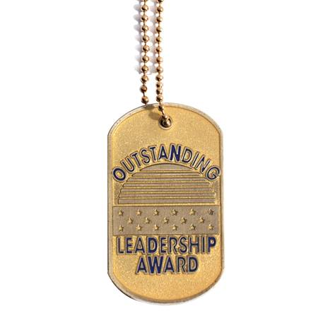 Glitter Dog Tag- Outstanding Leadership Award