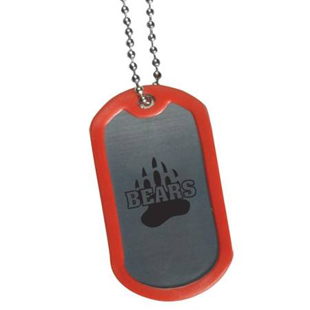 Custom Dog Tag with Color Trim
