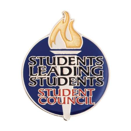 Student Council Award Pin - Torch